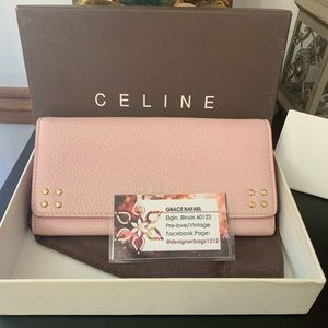 Celine light pink wallet